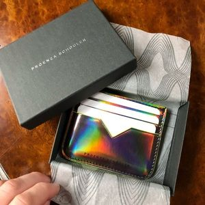 Proenza Schouler Holographic Leather Card Holder